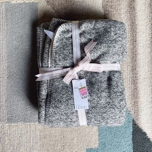 Nordstrom  Home Heather Grey Faux Shearling Throw
